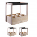 wholesale Food & Beverage: wooden wine rack compartments x6, 2-fold assort