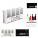 storage 4 bottles and wine glasses, 2-times a
