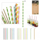 wholesale Household & Kitchen: fantasy printed straws in paper x50, 6-fold