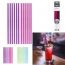 glitter straw x12, 2- times assorted