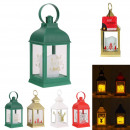 lantern candle christmas led 24cm, 4- times assort
