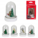 christmas led bell 11x6cm, 4- times assorted