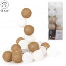 wholesale Light Garlands: garland ball 20 led white gold 3m45, 1-time ass