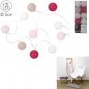 wholesale Light Garlands: garland ball 10 led pink 1m75, 1- times assorted