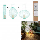 led tealight holder retractable blue green