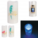 ingrosso Decorazioni: candela deco a led colorati 15x7,5 cm, assortiment