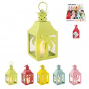 metal lantern led candle h12cm wild exotic, 5-
