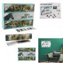 Großhandel Dekoration: Lichtkasten mit Nachricht a4 wild exotisch
