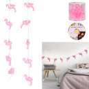 wholesale Light Garlands: wild exotic flamingo garland 10 leds 165cm