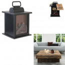 decorative fireplace led 12x12x18.5cm