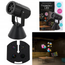 led projector x4 interchangeable discs