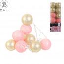 wholesale Light Garlands: garland ball 10 led rose gold 4x192cm