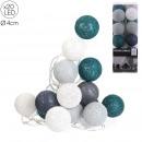 wholesale Light Garlands: garland ball 20 led dark blue gray 4x372cm