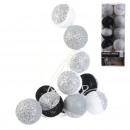 wholesale Light Garlands: garland ball 10l black white glitter 6x192cm