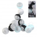garland ball 16led black blue glitter 6x300cm