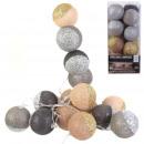 Großhandel Sonstige: Girlandenkugel 16l braun grau Glitter 6x300cm