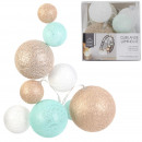 garland ball 10l multi-tai blue beige 100cm