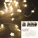 garland star 20 led warm light 230cm