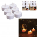 white table led candle 3.5x3.8cm