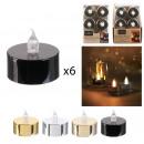 bougie led de table metallique 3.5x3.8cm, 4-fois a