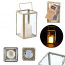 wholesale Wind Lights & Lanterns: lantern glass gold 17.5x10.5x10.5cm