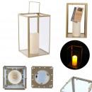 wholesale Drinking Glasses: golden glass lantern 29x17.5x17.5cm