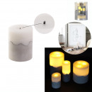 candle led base cement 10x8cm
