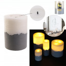 candle led base cement 20x15cm