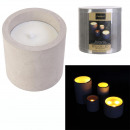 led candle cement 10x10cm