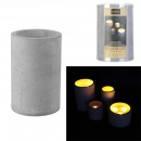 led candle cement 15x10cm
