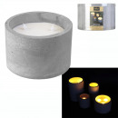 led candle cement 10x15cm