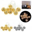 wholesale Light Garlands: garland metal 10 led oriental, 2- times assorted