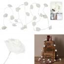 hurtownia Mieszkanie & Dekoracje: biała róża girlanda 10 led 1m80