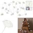 hurtownia Mieszkanie & Dekoracje: biała róża girlanda 20 led 3m50
