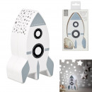 rocket night light wall projection