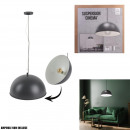 suspension cinema gray interior white d40cm, 1-fo