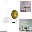 suspension cinema white interior gold d40cm, 1-fo