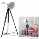 industrial floor lamp chrome tripod black