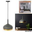 suspension cloche gris mat cercle gold