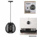 suspension boule filaire noir