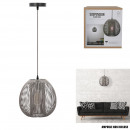 suspension boule filaire gris