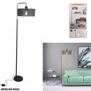 modern floor lamp perforated gray marble base