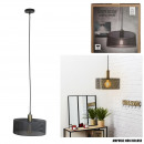 suspension moderne metal gris perfore