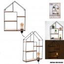 shelves deco light house wood metal h50 cm