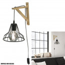 wired diamond pendant wall lamp