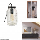 table lamp mason jar 29x15.5x15.5cm