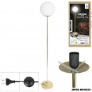 retro floor lamp opaque glass 1 head golden base