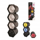 Disco lamp 3 spotlights 141 leds, 1-fold assorted
