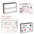 Light box with message a5 + 85 letters, 1-times as