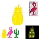 led flamingo pineapple cactus, 3- times assorted